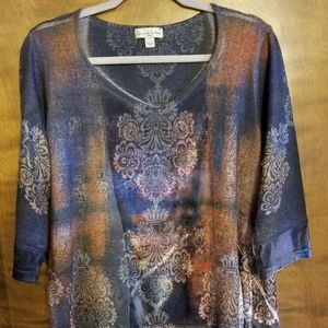 Live and Let Live Multi Color Shirt, Size 1x